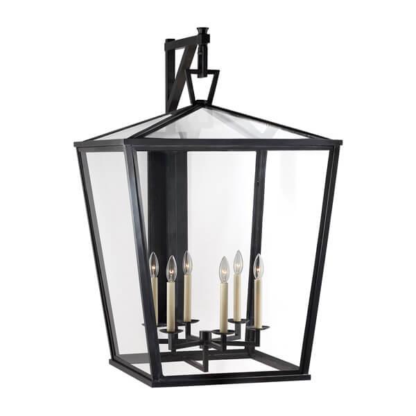 Darlana 6-light Bronze Hanging Wall Lantern - 39in