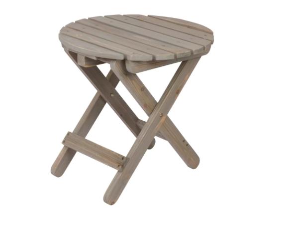 Folding Round Table- Vintage Gray