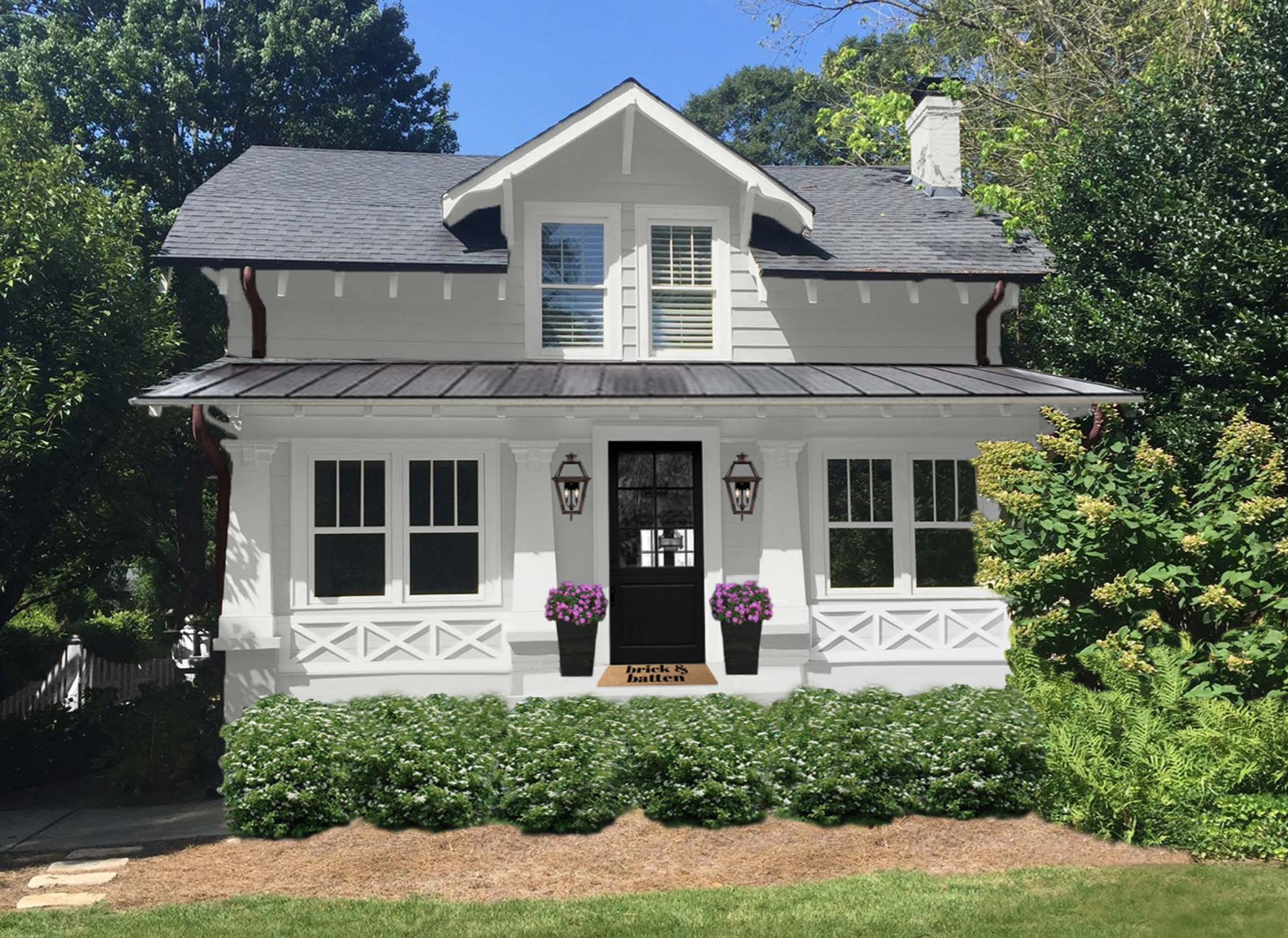 Favorite whites for your home 39 s exterior blog brick batten - Benjamin moore white dove exterior ...