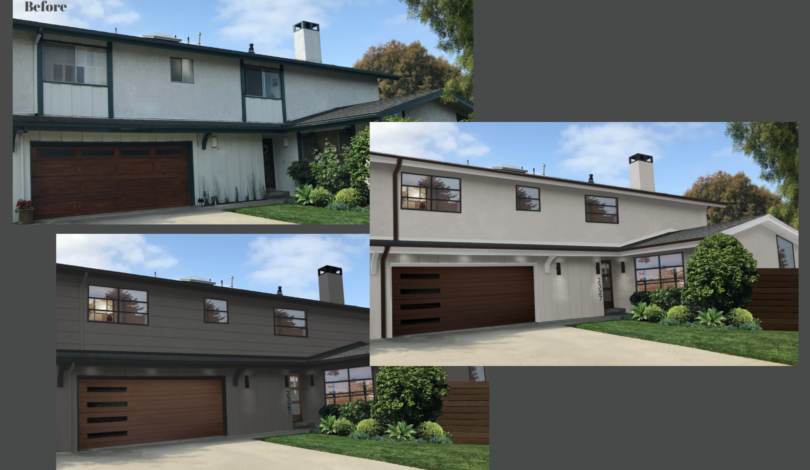 Lennon house before&after