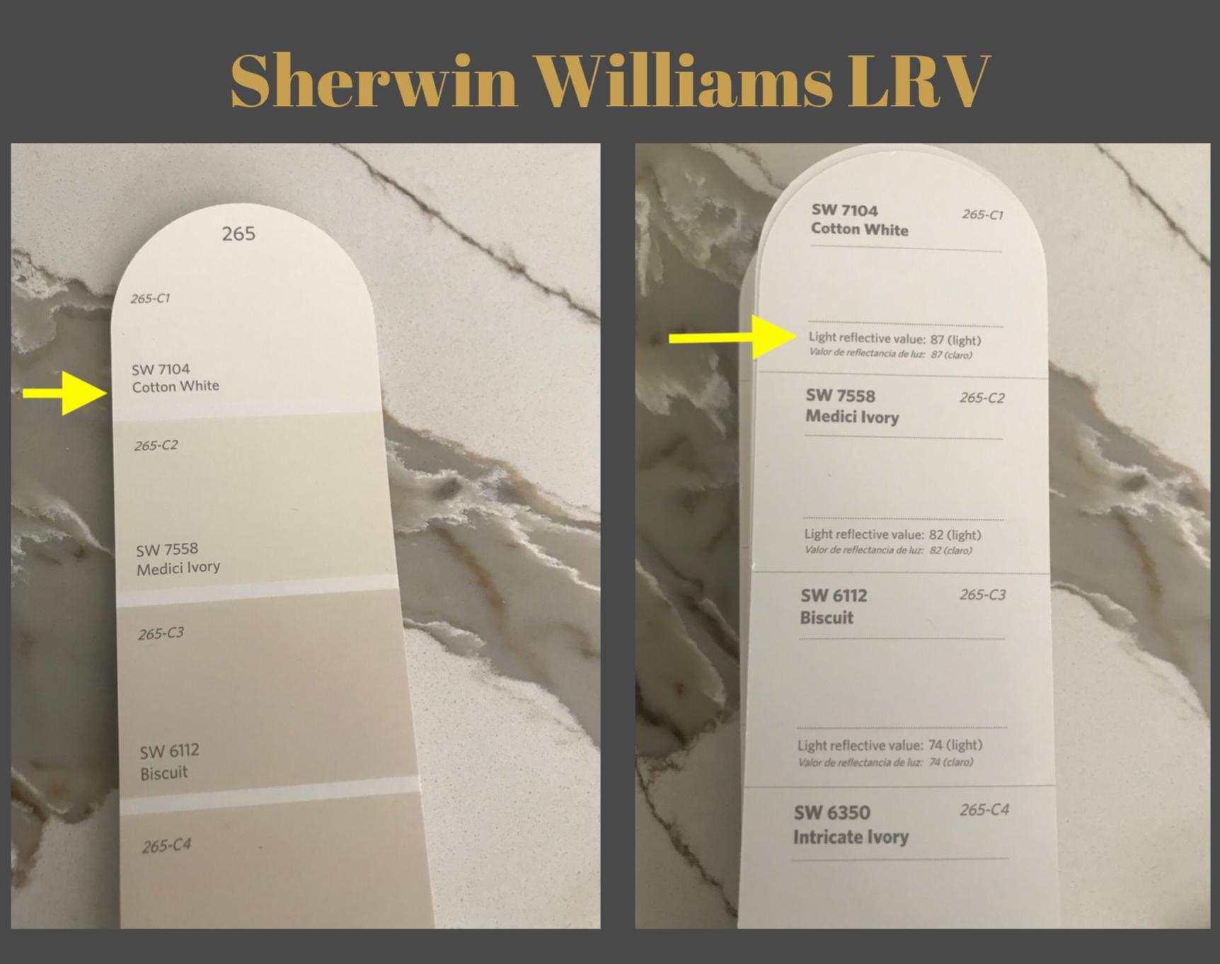 Sherwin Williams LRV