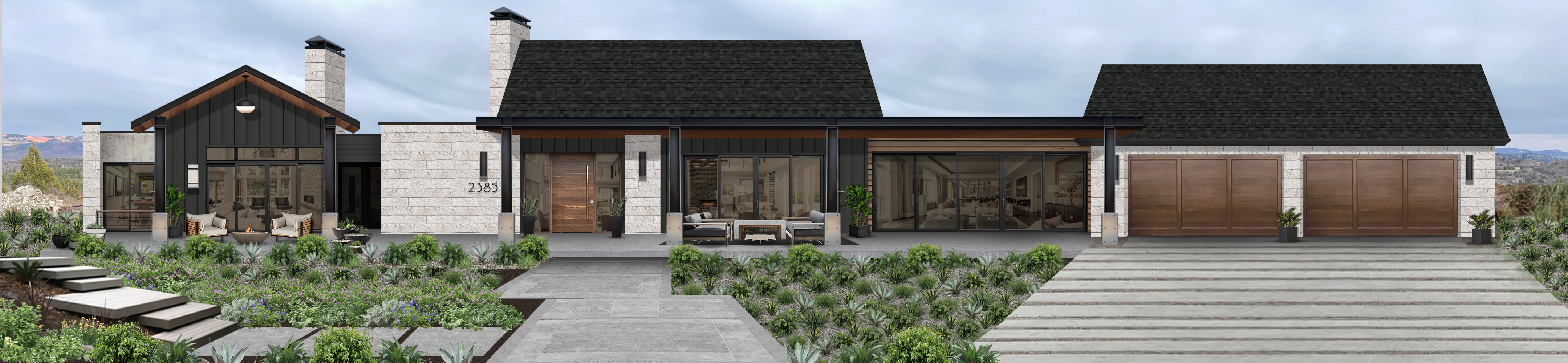 Virtual rendering of a contemporary home that makes use of James Hardie siding in Mountain Ash